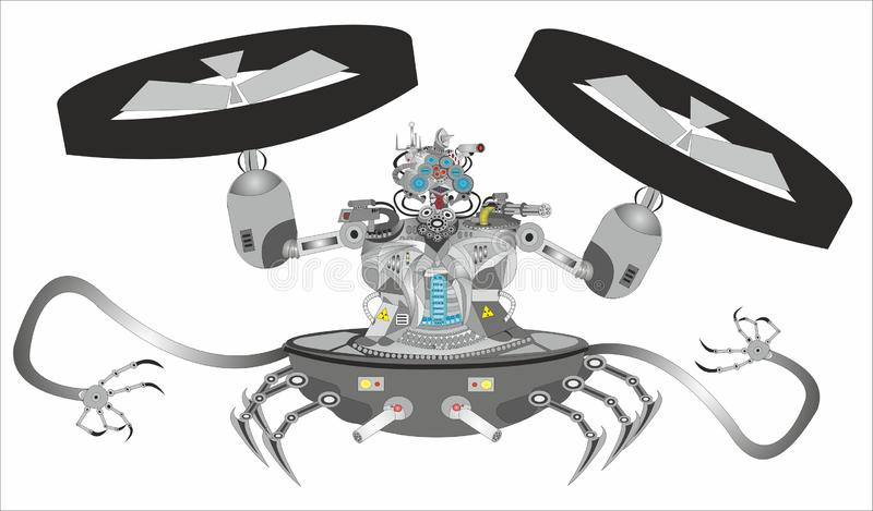 """De Robot â """"van science fictioncyborg – 2 stock illustratie"""