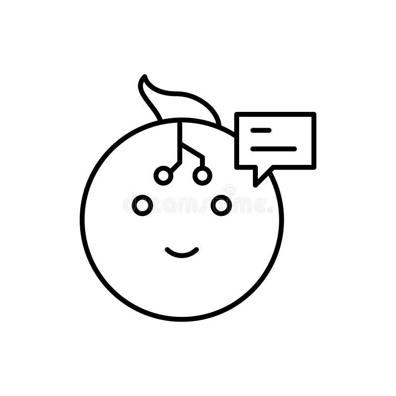 De robot, bespreking, babbelt bobble pictogram - Vector Kunstmatige intelligentie stock illustratie