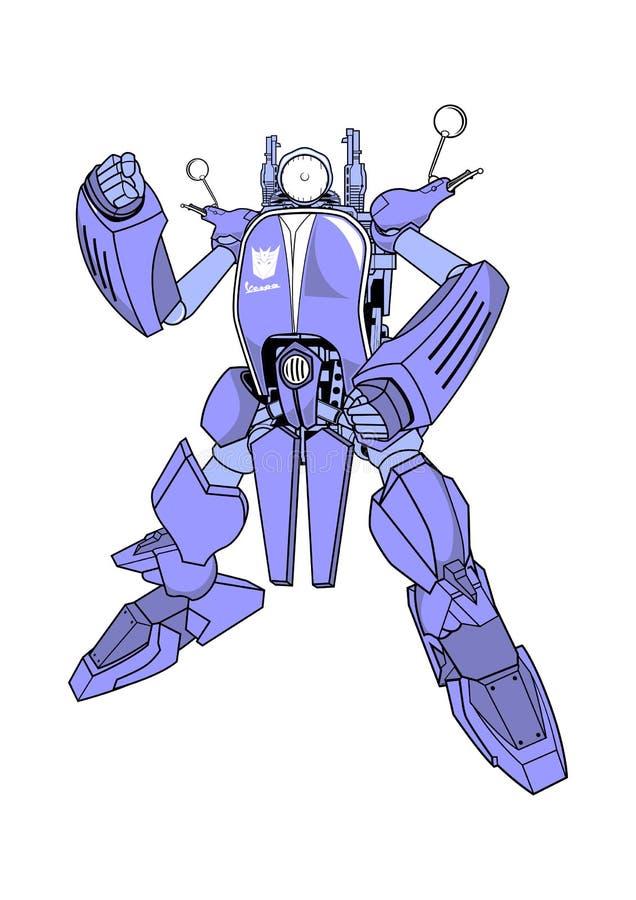 De robot clipart illustratie van de Vespatransformator royalty-vrije illustratie