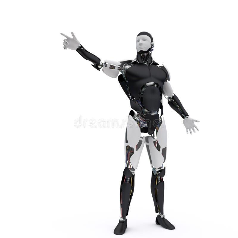 De robot richt zijn vinger royalty-vrije illustratie