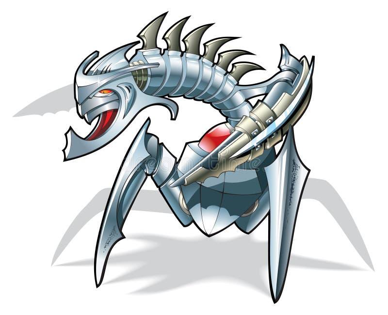 De robot-spin van de slag vector illustratie