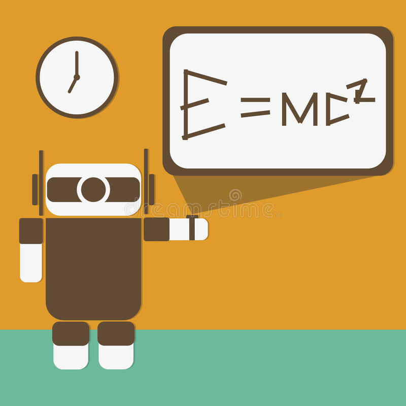De robot terug naar school stock foto
