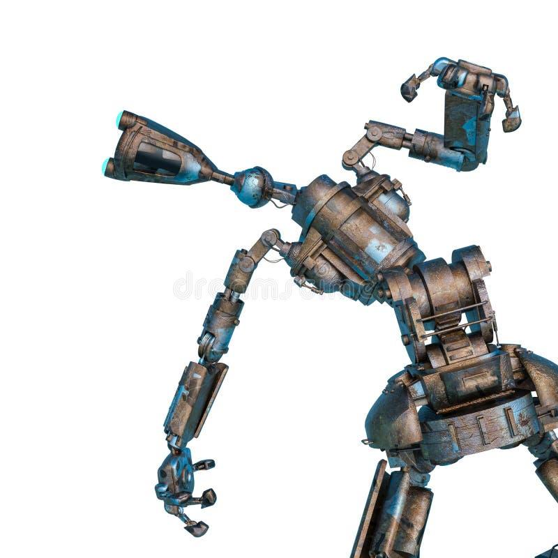 De robot van de Arbeider kijkt naar links royalty-vrije illustratie