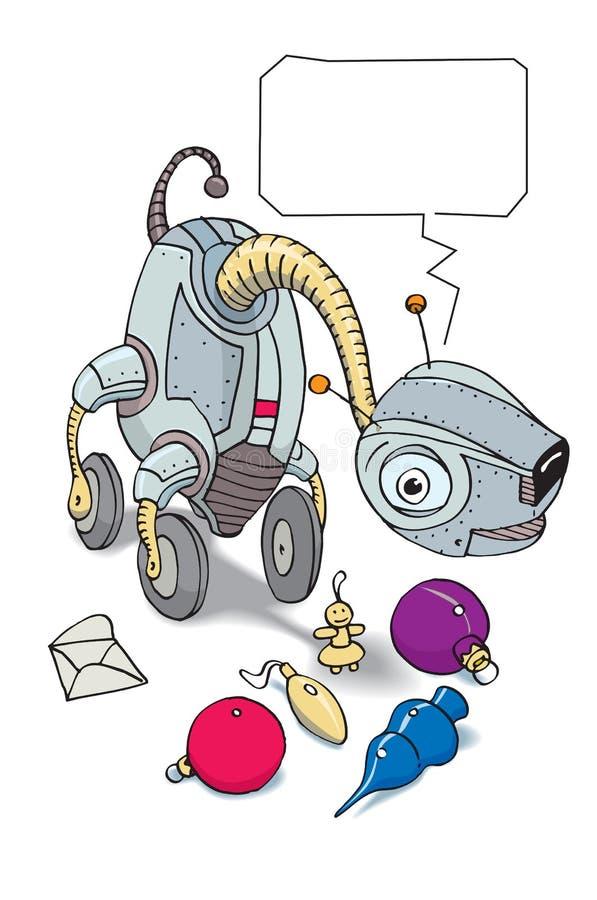 De robot van de glimlach stock illustratie