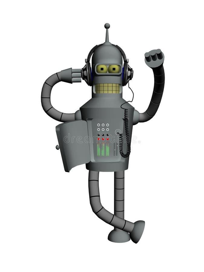 De robot van de muziek stock afbeeldingen