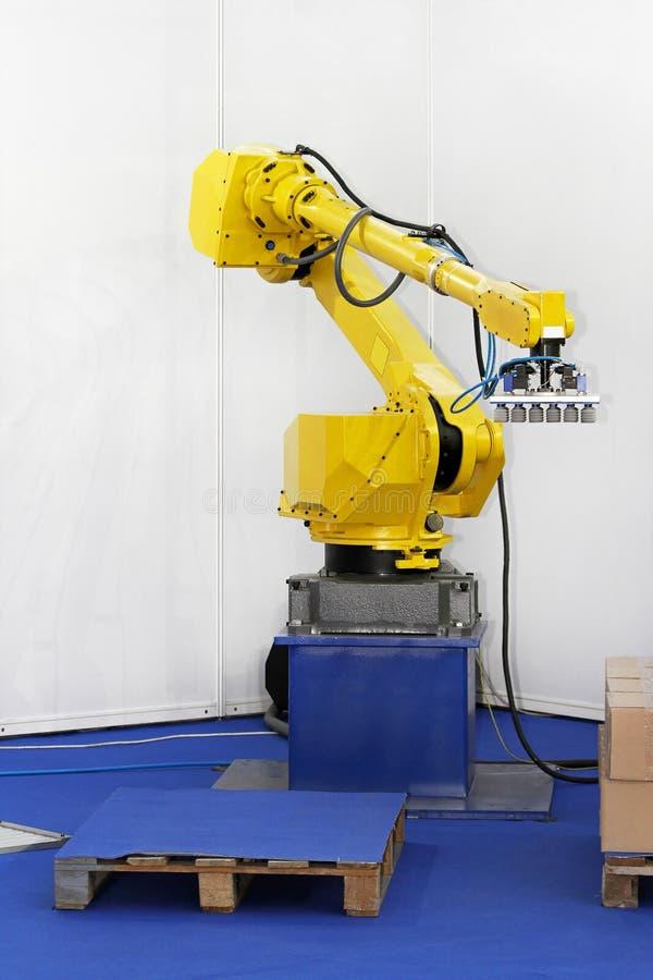 De robot van de verpakking stock afbeeldingen