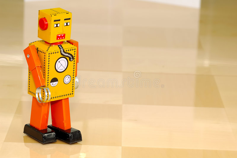 De Robot van het stuk speelgoed stock fotografie