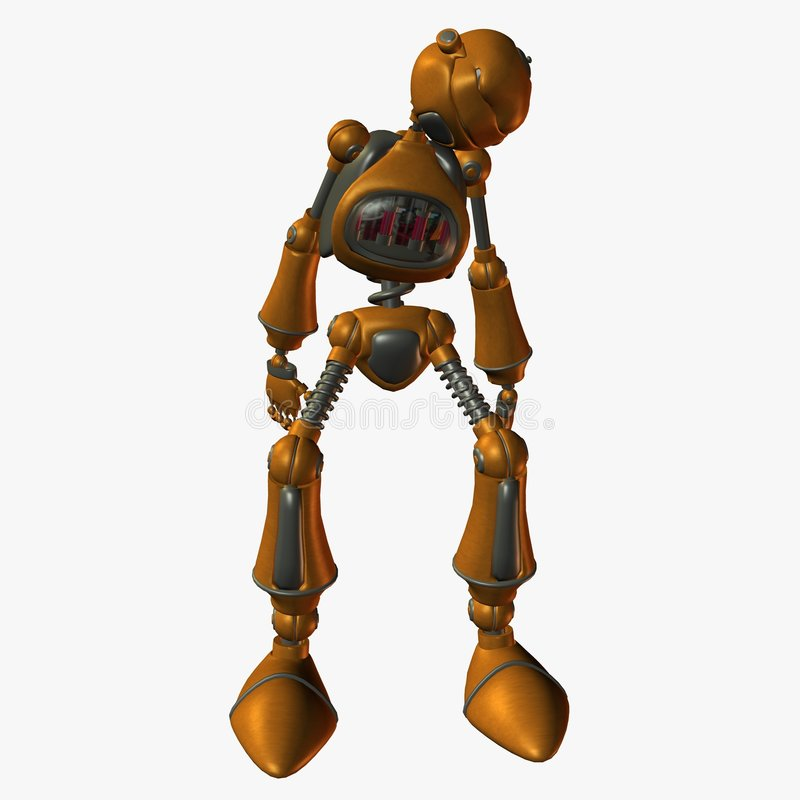 De Robot van Toonimal stock illustratie