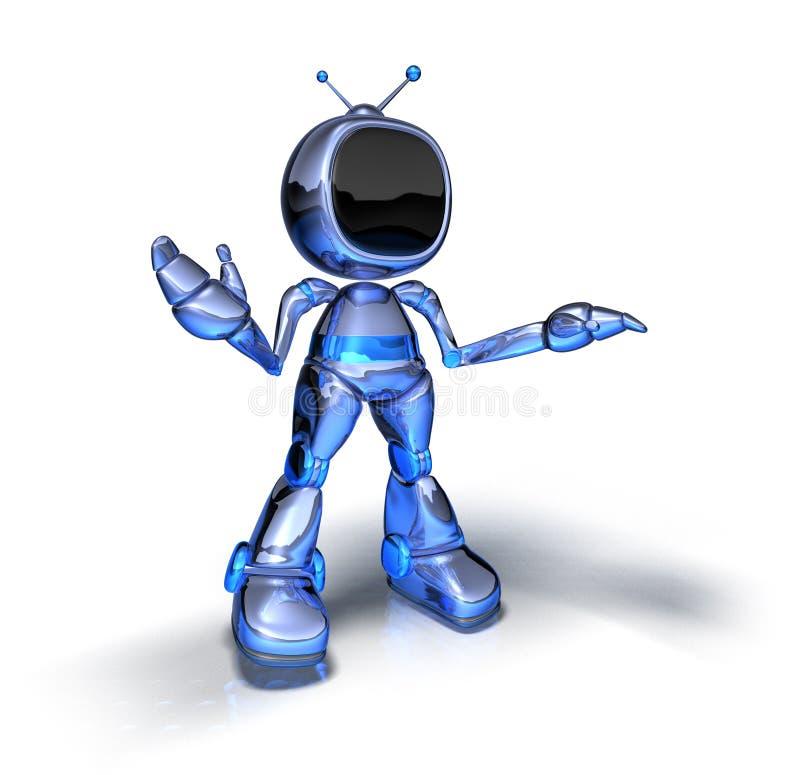 De robot van TV vector illustratie