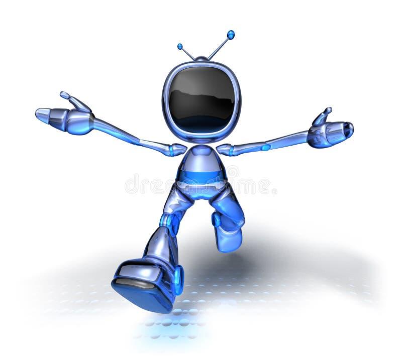 De Robot van TV stock illustratie