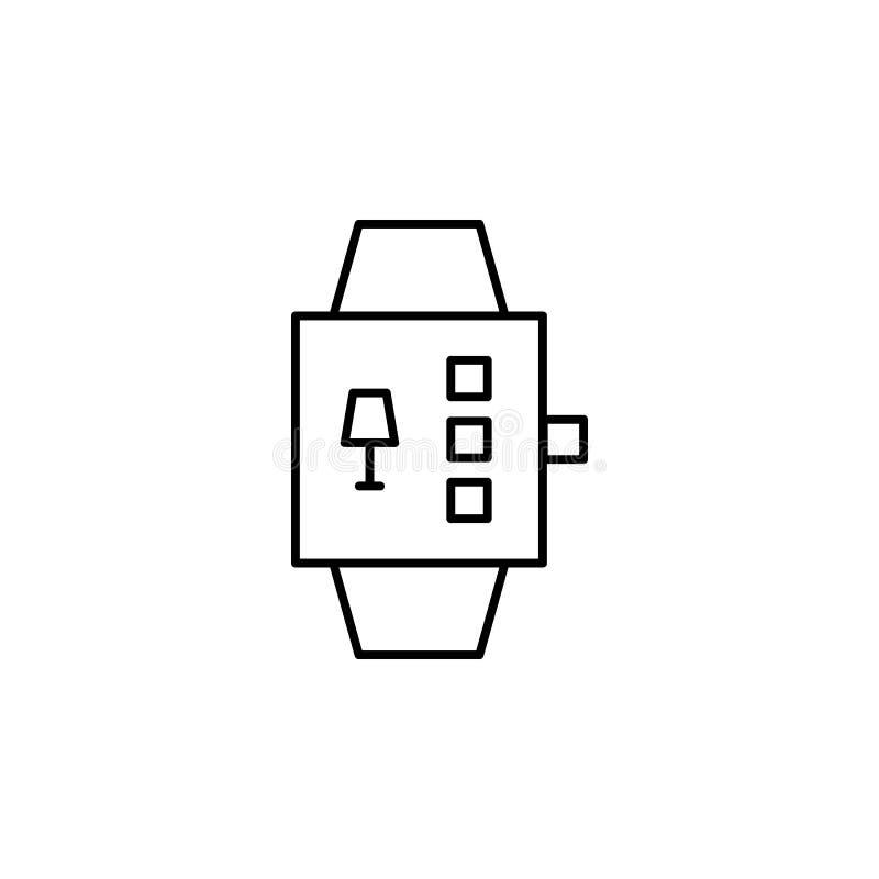 De robotica smartwatch schetst pictogram De tekens en de symbolen kunnen voor Web, embleem, mobiele toepassing, UI, UX worden geb royalty-vrije illustratie
