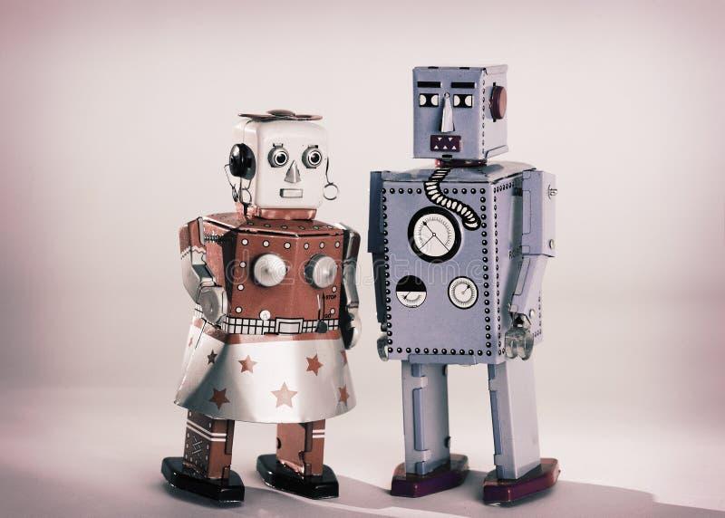 De Robots van het stuk speelgoed stock afbeeldingen
