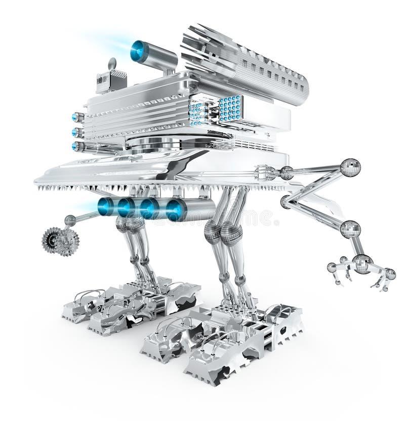 De robotstrijder van het metaal van toekomst vector illustratie