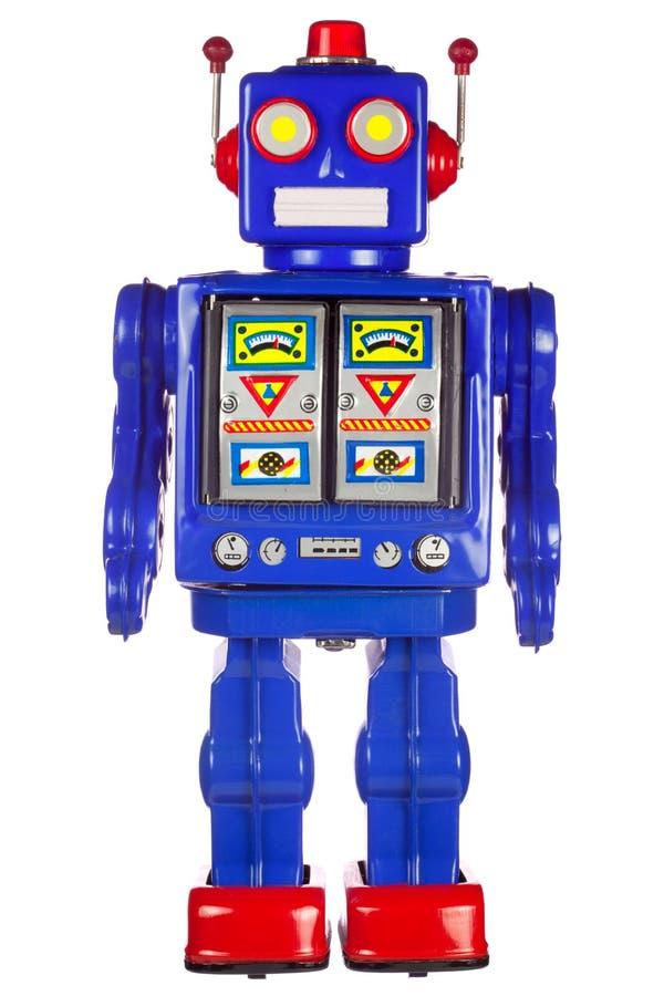 De robotwapens van het tin door zijn kant royalty-vrije stock fotografie