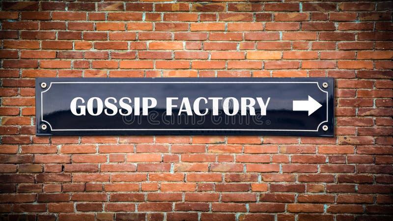 De RODDELfabriek van het straatteken royalty-vrije stock foto's