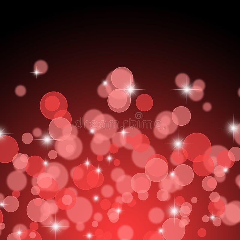 De rode Abstracte Achtergrond van de Lichten van Kerstmis royalty-vrije illustratie