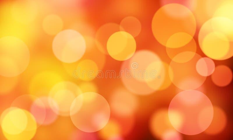 De rode abstracte cirkel als achtergrond steekt bokeh aan royalty-vrije stock afbeeldingen