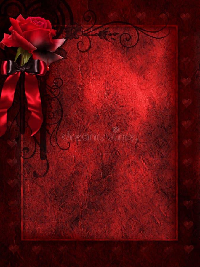 De rode achtergrond met nam toe royalty-vrije illustratie