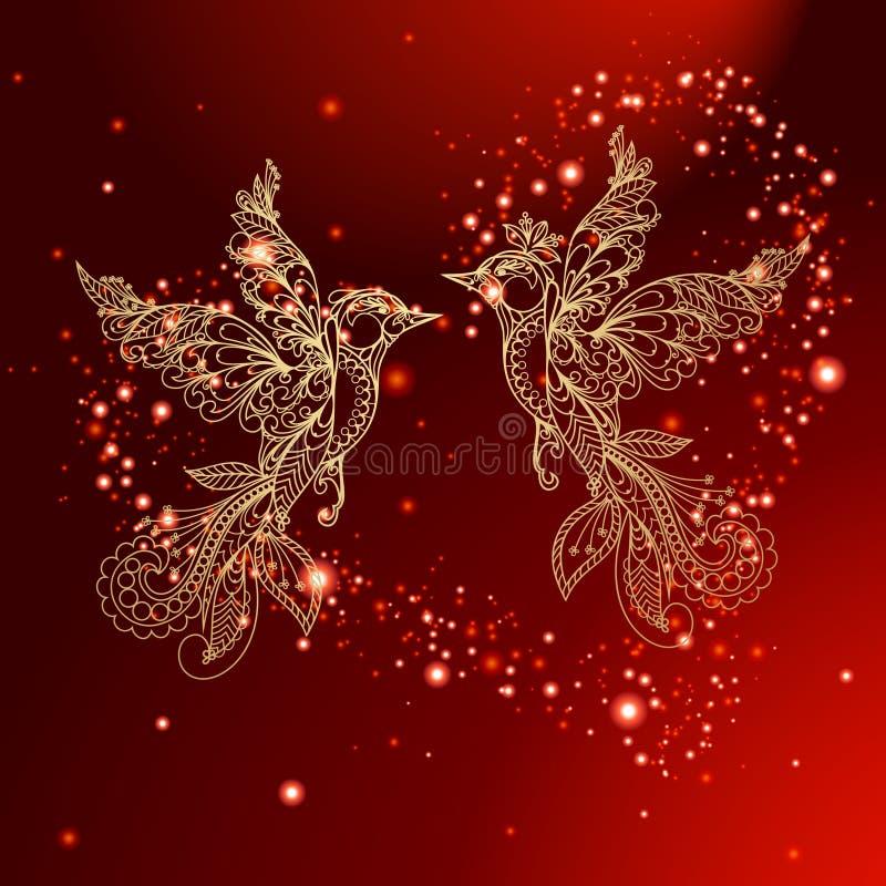 De Rode Achtergrond van de valentijnskaart stock illustratie