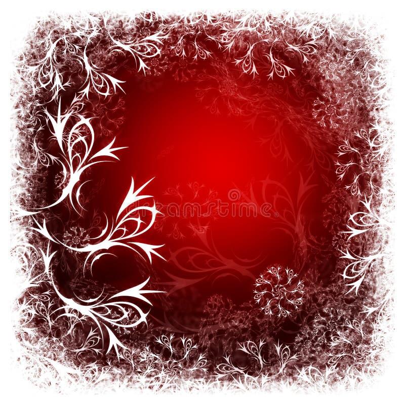 De rode achtergrond van de winter vector illustratie