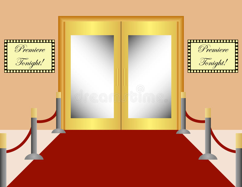 De rode Achtergrond van het Tapijt stock illustratie