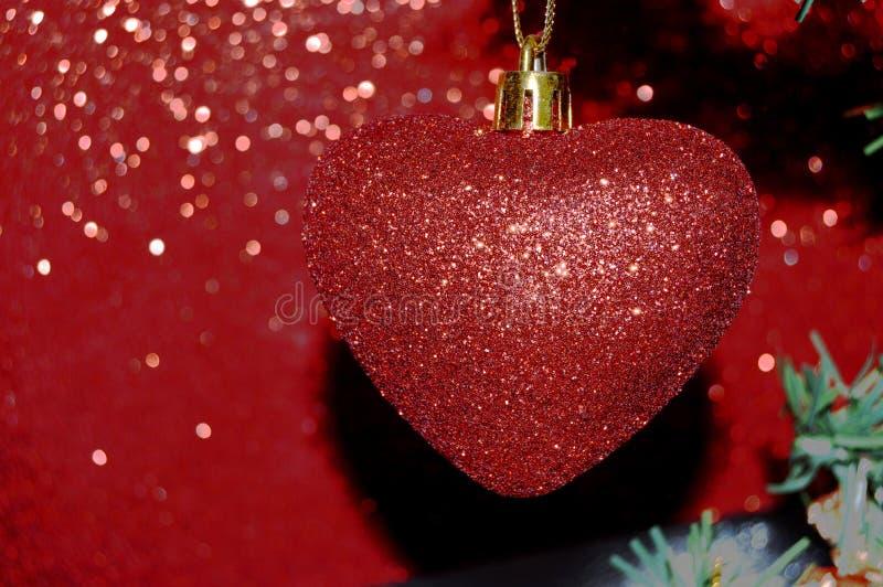 De rode Achtergrond van de Kerstboomscène royalty-vrije stock afbeeldingen
