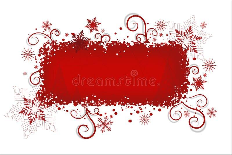 De rode achtergrond van Kerstmis   vector illustratie