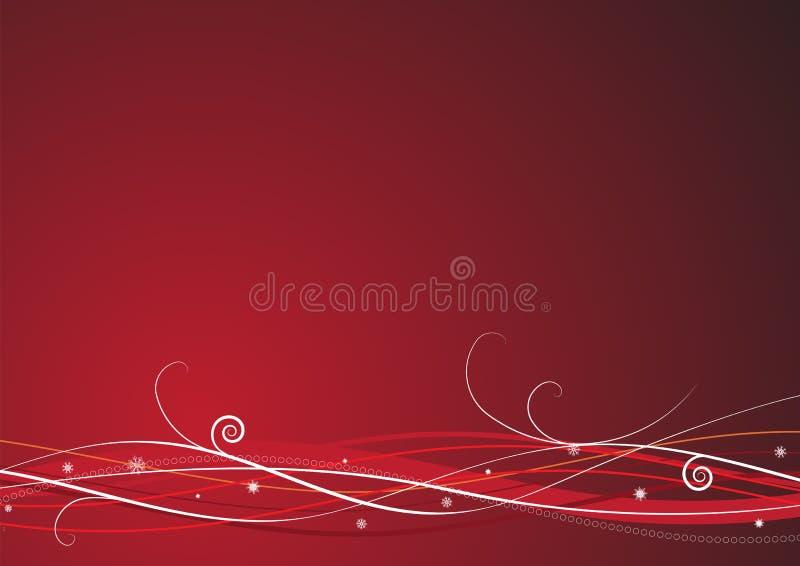 De rode achtergrond van Kerstmis stock illustratie