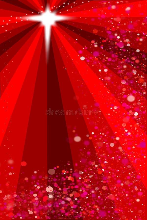 De rode achtergrond van de Kerstmisster vector illustratie