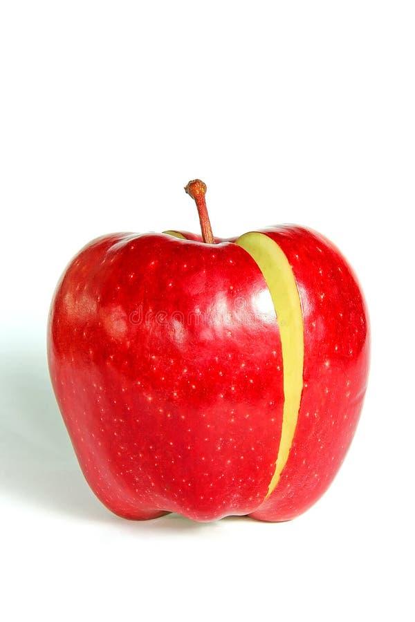 De Rode Appel van de besnoeiing stock foto