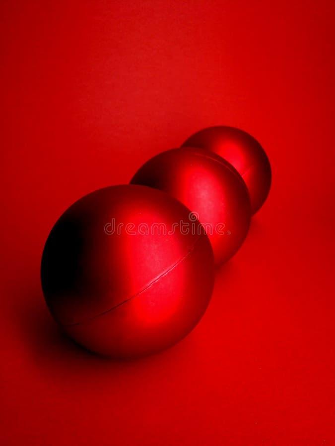 De rode Ballen van Kerstmis royalty-vrije stock fotografie