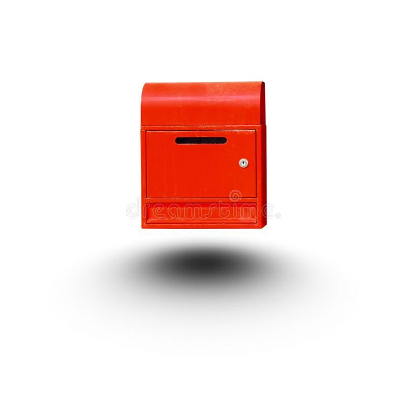 De rode brievenbus isoleerde witte achtergrond royalty-vrije stock fotografie