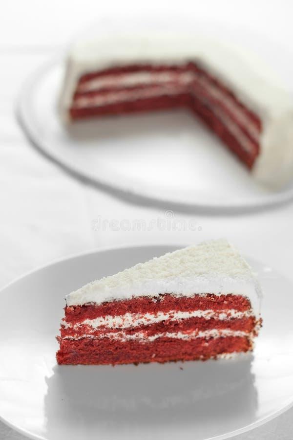 De rode Cake van het Fluweel royalty-vrije stock afbeeldingen