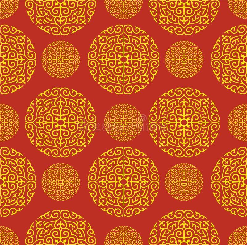 De rode Chinese Achtergrond van het Patroon vector illustratie
