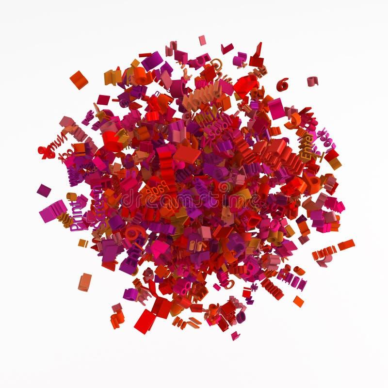De Rode Cluster van de grammatica, stock illustratie