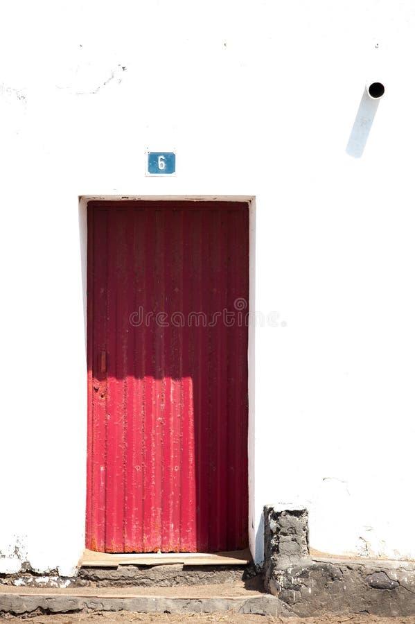 De rode deur royalty-vrije stock foto's