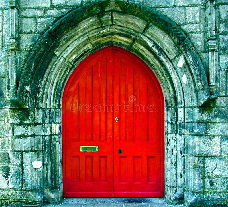 De rode deur royalty-vrije stock foto