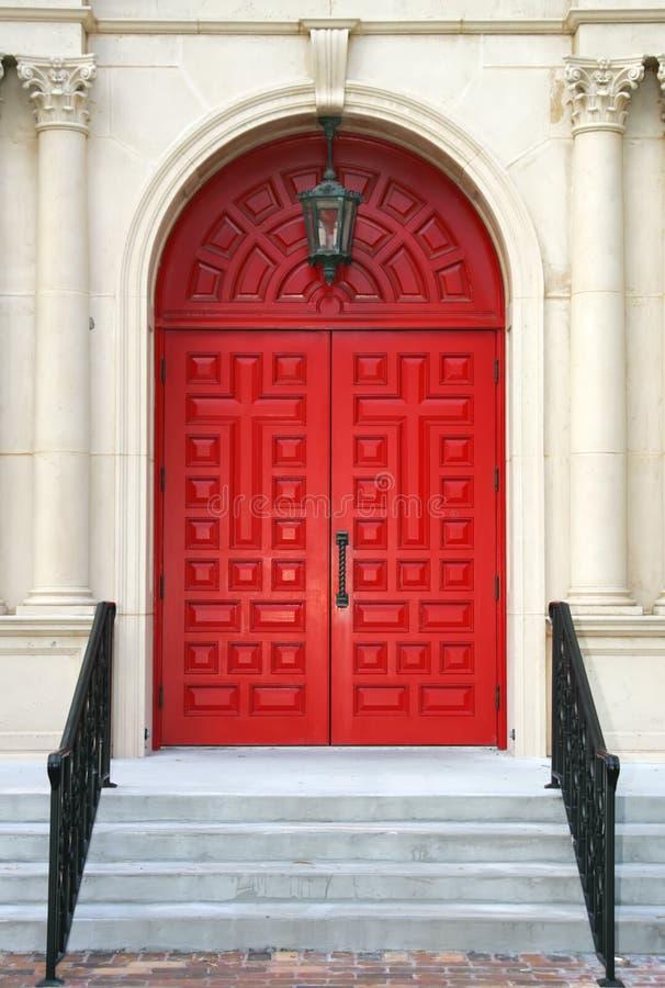 De rode Deuren van de Kerk royalty-vrije stock foto