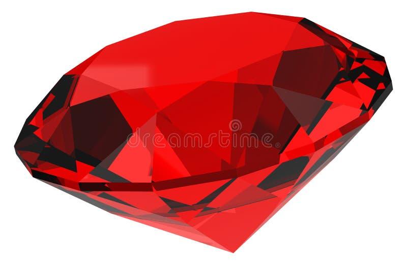 De rode diamant vector illustratie