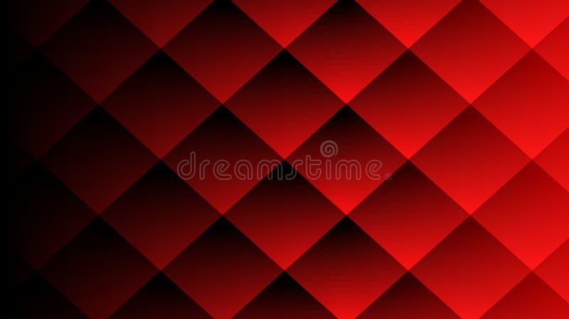 De rode Diamant met maakt effect achtergrondmalplaatje in reliëf stock illustratie