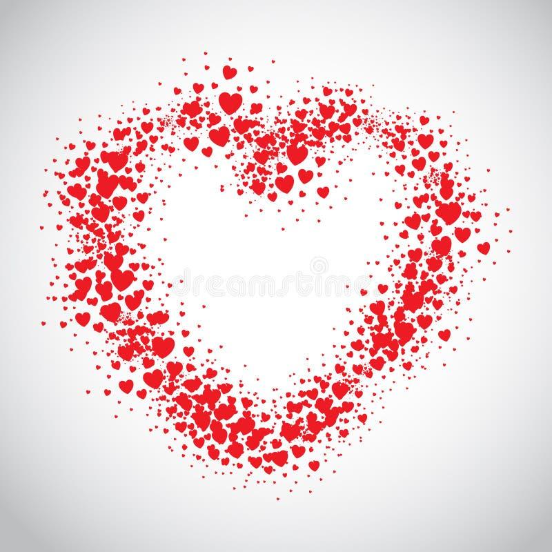 De rode die hartnevel met verspreiding wordt geschilderd hoort stock illustratie