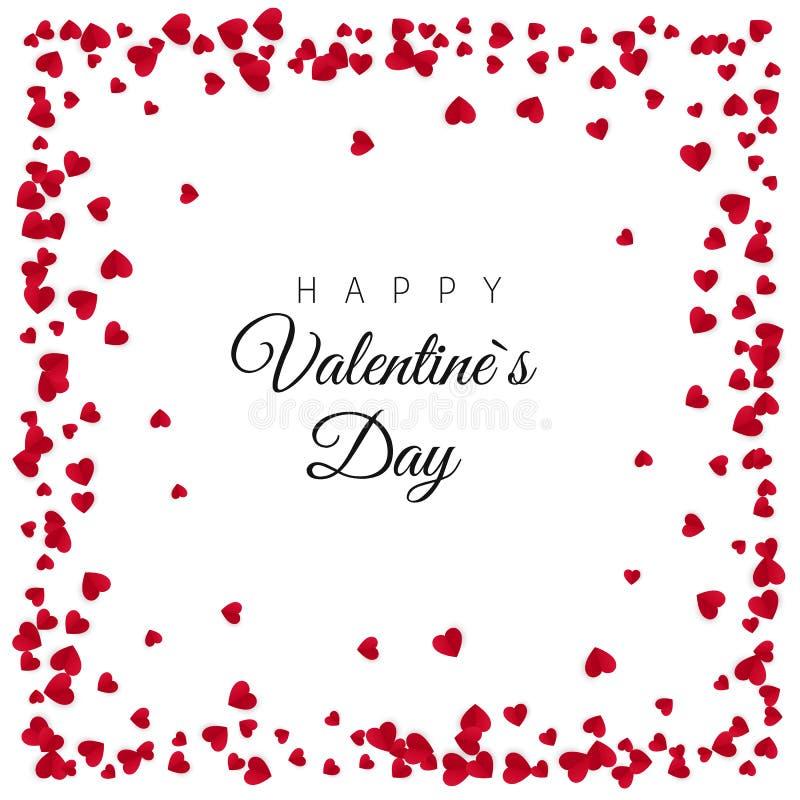 De rode Document Achtergrond van het Hartenkader Ontwerp voor de Dag van Valentine of Huwelijken en Moederdag Hartenkader met rui stock illustratie