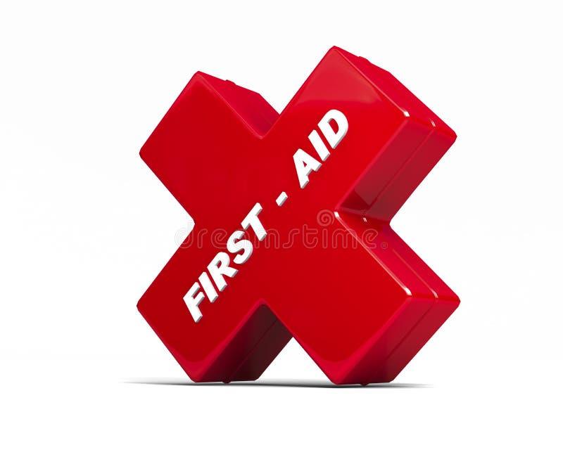 De rode doos van de eerste hulp vector illustratie