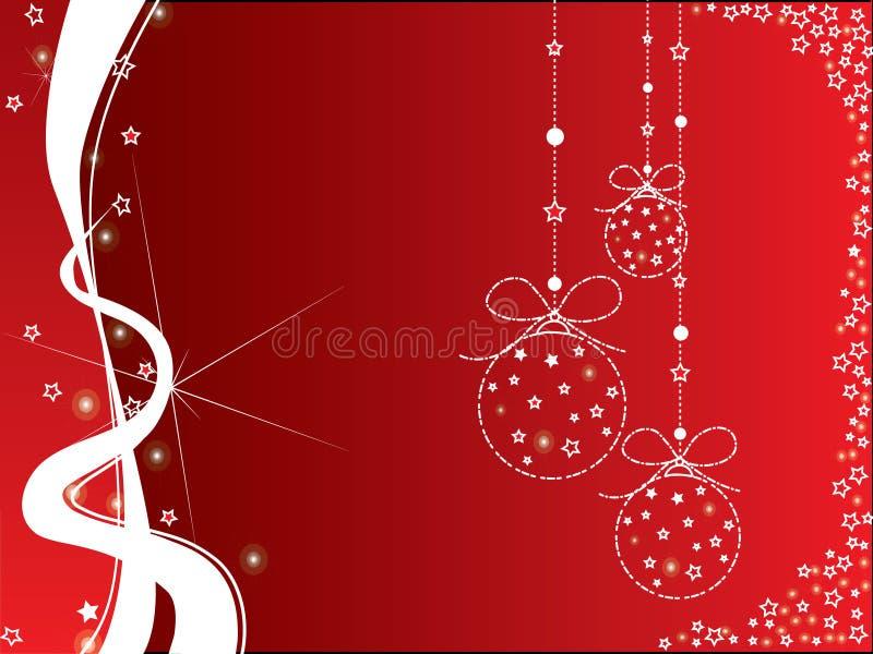 De rode en witte achtergrond van Kerstmis stock fotografie