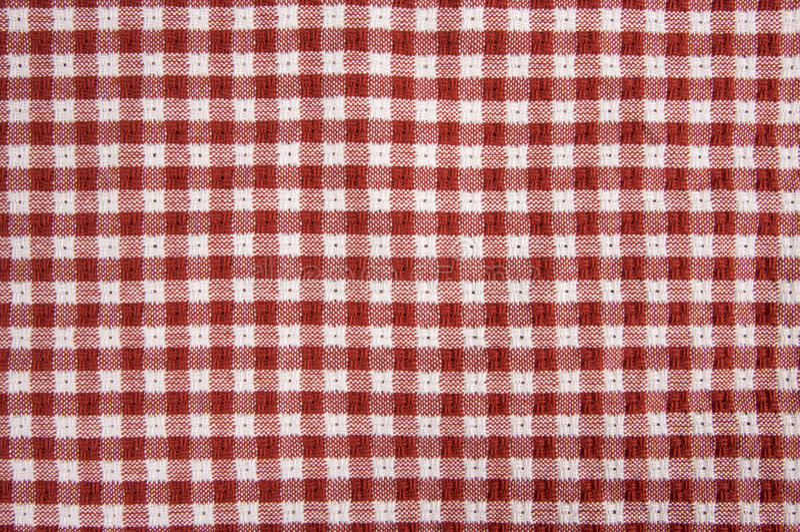 De rode en Witte Deken van de Picknick stock fotografie