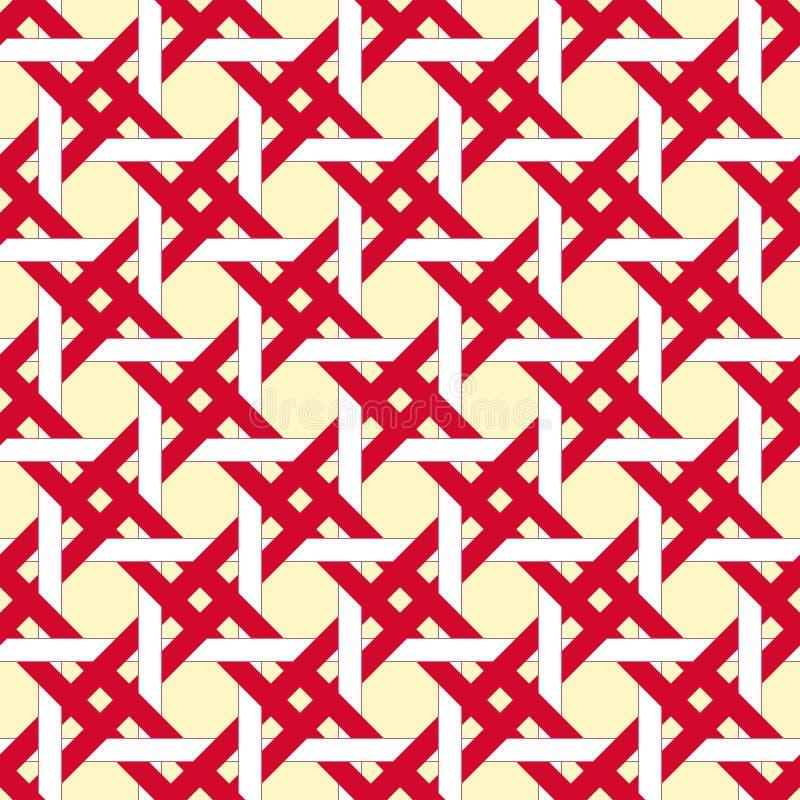De rode en witte mand, regelt naadloze achtergrond stock illustratie