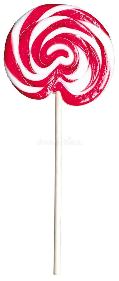 De rode en witte reuze pop lollie van de jonge geitjes childs lolly royalty-vrije stock fotografie