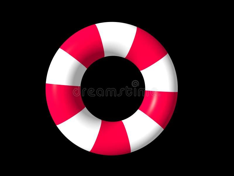 De rode en witte ring van de het levenswacht stock illustratie
