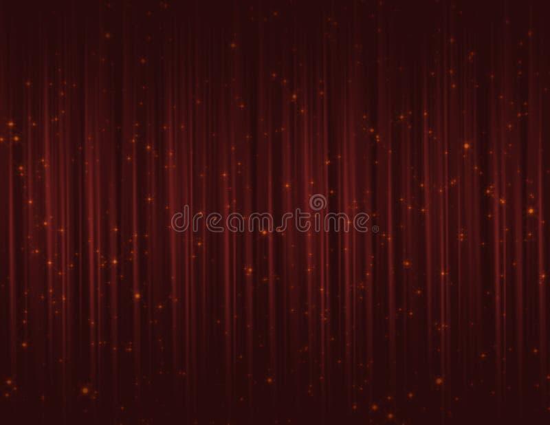 De rode fonkeling schittert gordijnen royalty-vrije illustratie