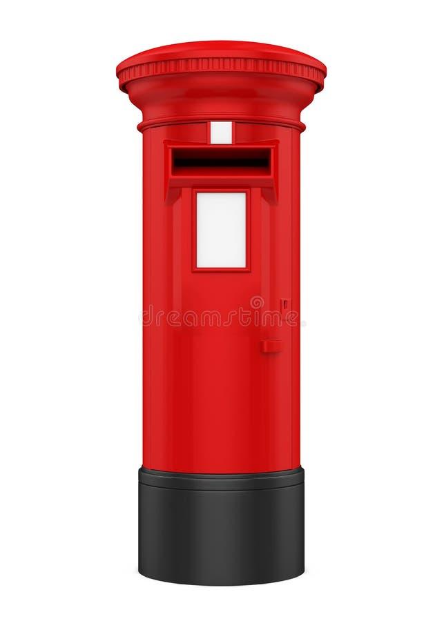 De rode Geïsoleerde Postbus van Engeland royalty-vrije illustratie